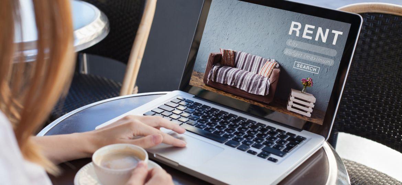 rent a room, flat, apartment, house online - concept